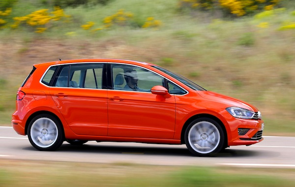 VW Golf Sportsvan Portugal May 2014. Picture courtesy of largus.fr