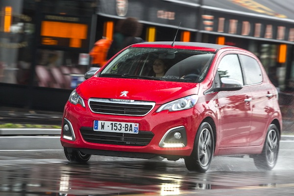 Peugeot 108 Portugal July 2014. Picture courtesy of largus.fr