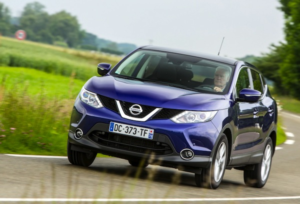Nissan Qashqai Estonia November 2014. Picture courtesy of largus.fr