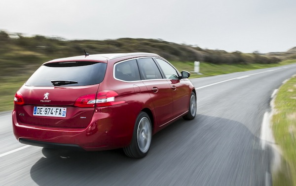 Peugeot 308 SW Switzerland August 2014. Picture courtesy of largus.fr