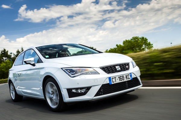 Seat Leon Czech Republic January 2015. Picture courtesy of largus.fr