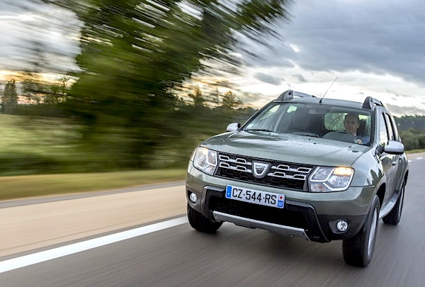 Dacia Duster Slovenia June 2015. Picture courtesy of largus.fr