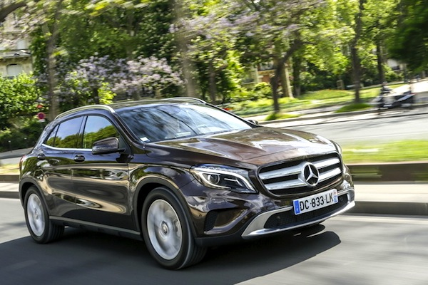 Mercedes GLA Czech Republic August 2016. Picture courtesy of largus.fr