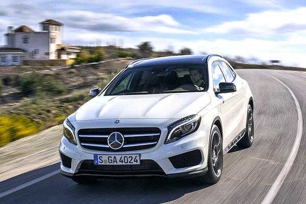 Mercedes GLA Switzerland September 2014. Picture courtesy of autobild.de