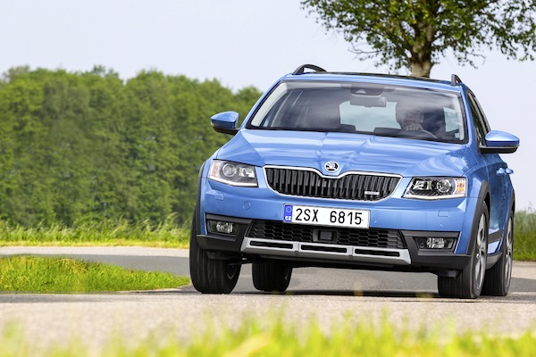 Skoda Octavia Estonia September 2014. Picture courtesy of largus.fr