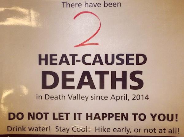 Death valley deaths