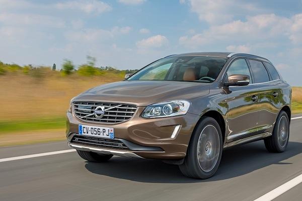 Volvo XC60 Switzerland October 2016. Picture courtesy of largus.fr