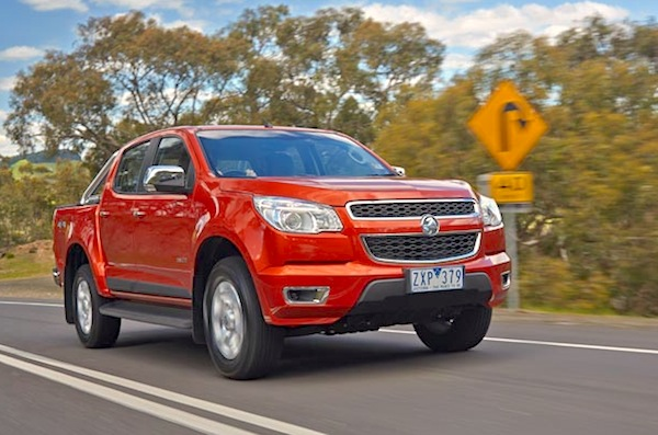 Holden Colorado NZ March 2015. Picture courtesy of caradvice.com.au