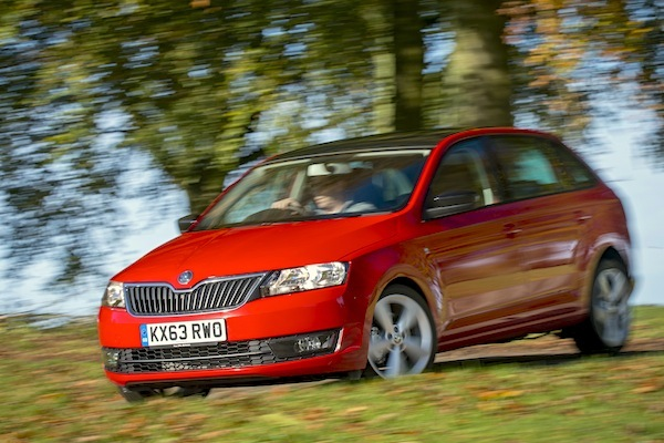 Skoda Rapid Poland January 2015. Picture courtesy autoexpress.co.uk