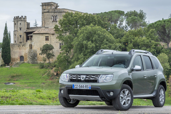 Dacia Duster Romania January 2015. Picture courtesy largus.fr