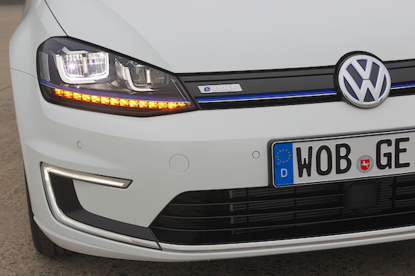 VW e-Golf Norway January 2015. Picture courtesy largus.fr