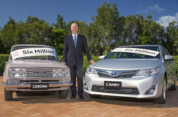 1965 Toyota Corona 2015 Toyota Camry Australia February 2015
