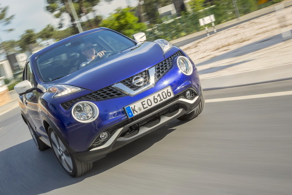 Nissan Juke Slovenia February 2015. Picture courtesy largus.fr