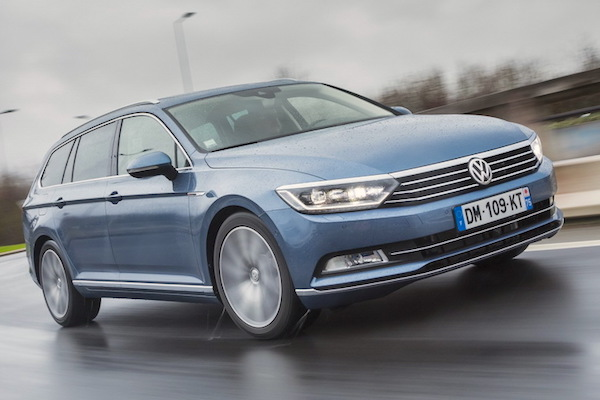 VW Passat Czech Republic November 2015. Picture courtesy largus.fr