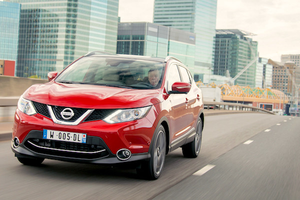 Nissan Qashqai UK June 2016