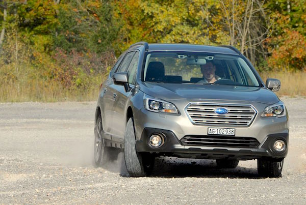 Subaru Outback Norway April 2015. Picture courtesy largus.fr