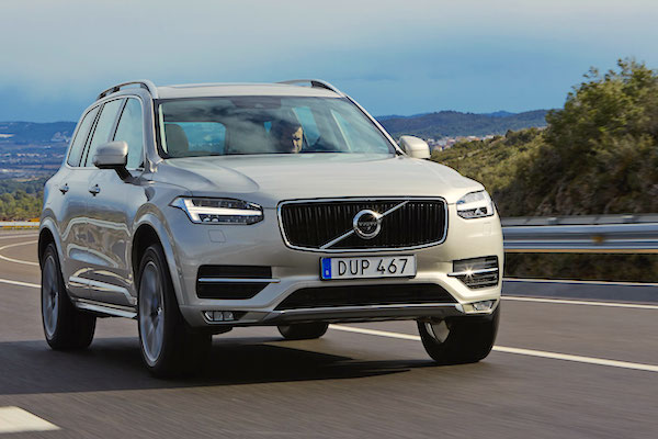 Volvo XC90 Sweden April 2015. Picture courtesy vibilagare.se
