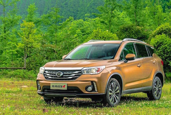 GAC Trumpchi GS4 China January 2016