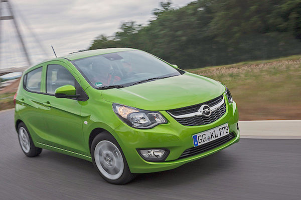 Opel Karl Italy August 2015. Picture courtesy autobild.de