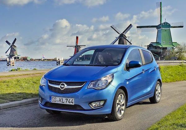 Opel Karl Netherlands June 2015. Picture courtesy largus.fr