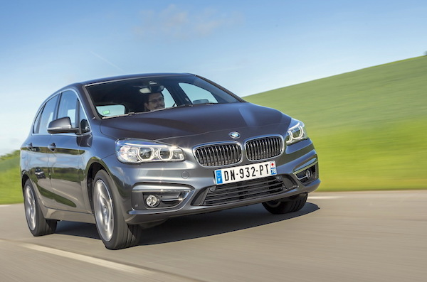 BMW 2 Series Active Tourer Italy August 2015. Picture courtesy largus.fr