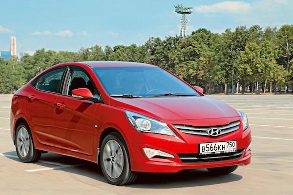 Hyundai Solaris Russia August 2015. Picture courtesy zr.ru