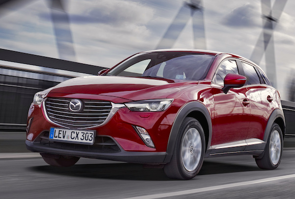 Mazda CX-3 Norway November 2015