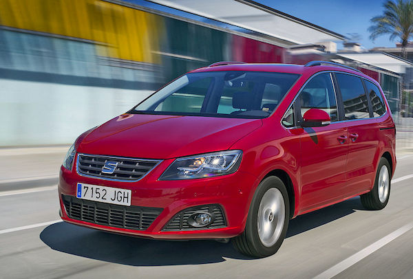 Seat Alhambra Switzerland August 2015. Picture courtesy autobild.de