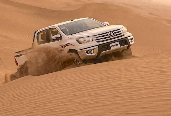 Toyota Hilux Oman July 2016. Picture courtesy saudishift.com