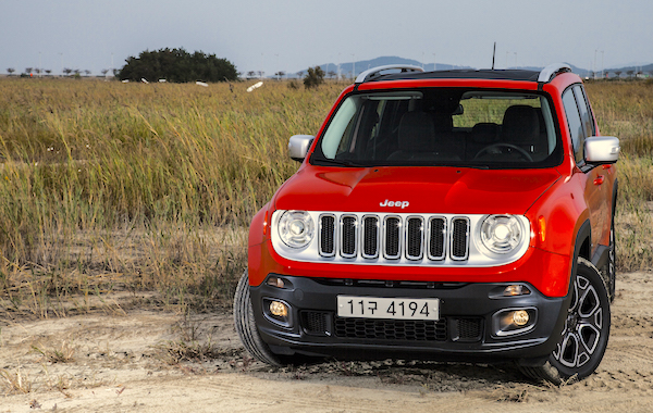 Jeep Renegade South Korea September 2015. Picture courtesy roadtest.co.kr
