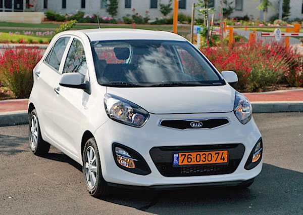 Kia Picanto Israel 2015. Picture courtesy cartube.co.il