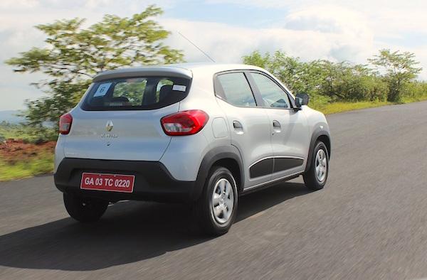 Renault Kwid India December 2015. Picture courtesy gaadi.com
