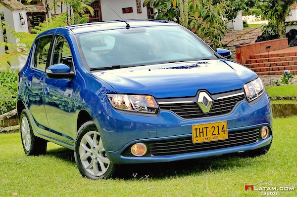 Renault Sandero Colombia 2015. Picture courtesy f1latam.com:autos