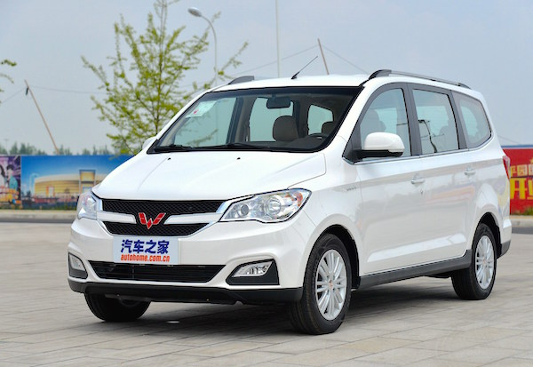 Wuling Hongguang China December 2015. Picture courtesy autohome.com.cn