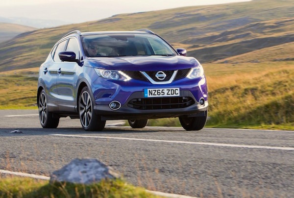 Nissan Qashqai Ireland March 2016. Picture courtesy autoexpress.co.uk