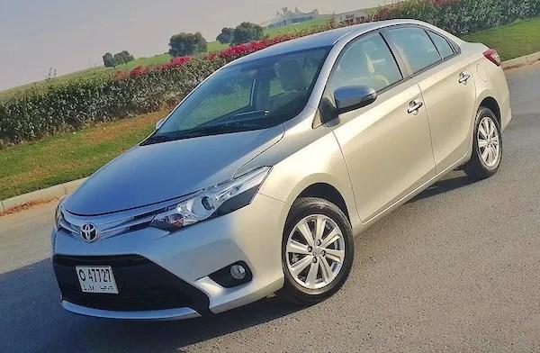 Toyota Yaris Lebanon 2015. Picture courtesy drivearabia.com