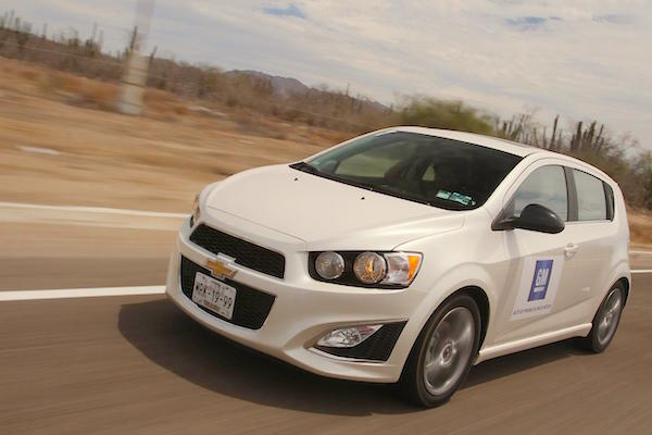 Chevrolet Sonic Mexico June 2016. Picture courtesy autocosmos.com.mx