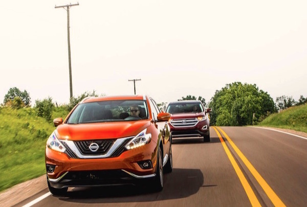 Nissan Murano Ford Edge Canada January 2016. Picture courtesy motortrend.com