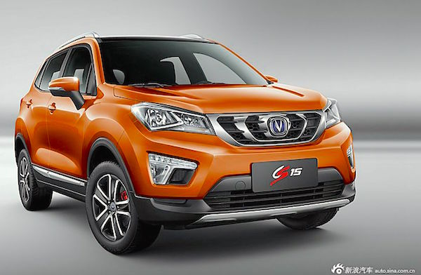 Changan CS15 China March 2016. Picture courtesy auto.sina.com.cn