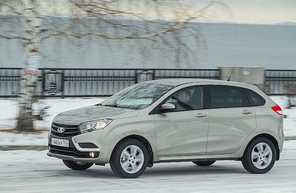 Lada XRAY Russia March 2016. Picture courtesy zr.ru