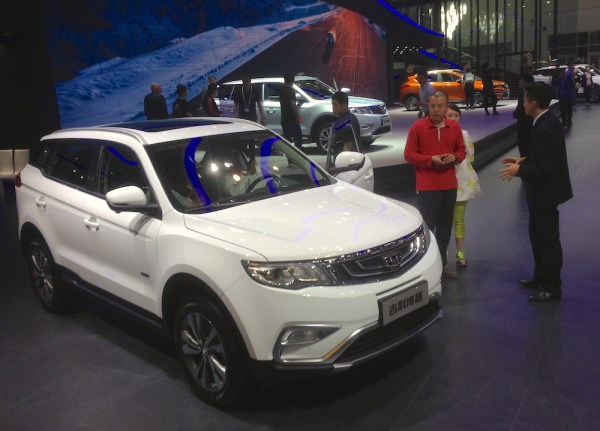 Geely stand