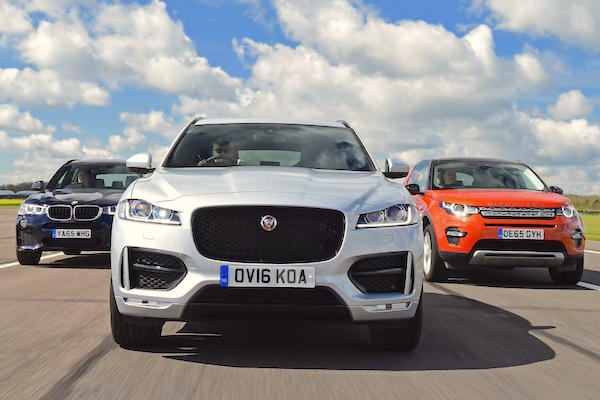 Jaguar F-Pace UK April 2016. Picture courtesy autoexpress.co.uk