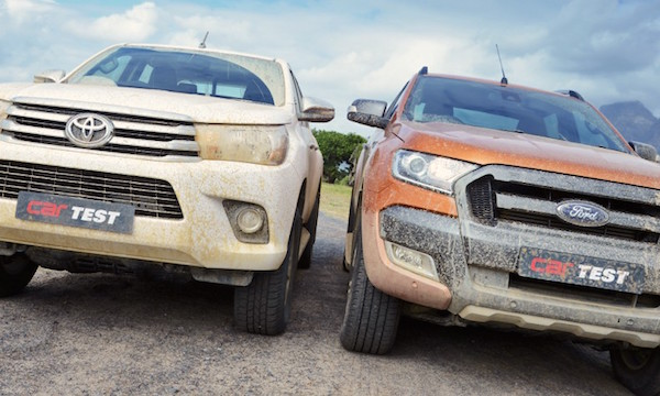 Toyota Hilux Ford Ranger South Africa May 2016. Picture courtesy carmag.co.za
