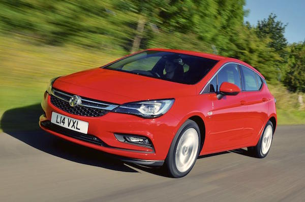 Vauxhall Astra Europe May 2016. Picture courtesy autocar.co.uk