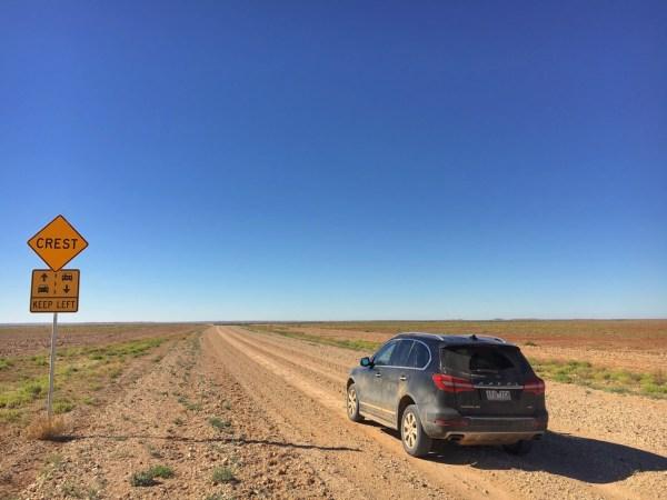 Crest roadsign
