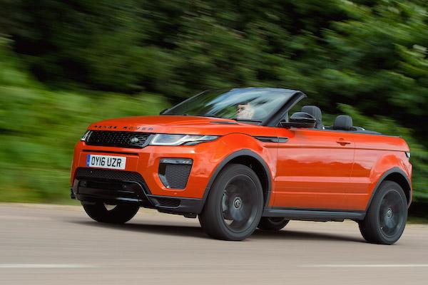 Range Rover Evoque UK July 2016