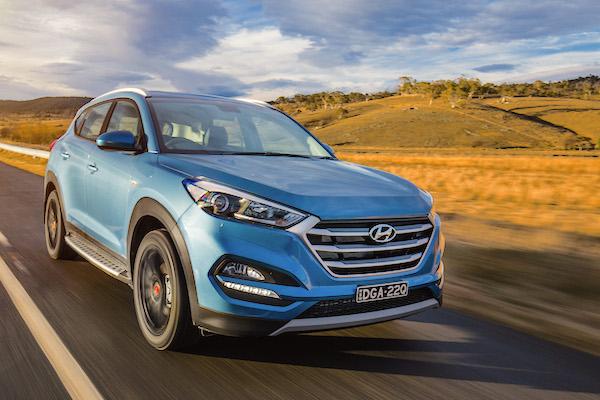 Hyundai Tucson Spain August 2016