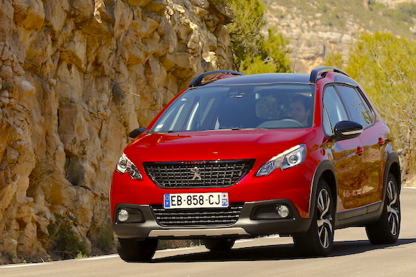 Peugeot 2008 France August 2016. Picture courtesy largus.fr