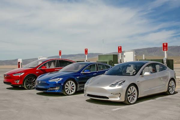 Tesla Model X Model S Model 3 Norway July 2016