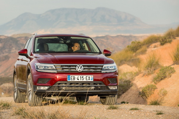 VW Tiguan France September 2016. Picture courtesy largus.fr